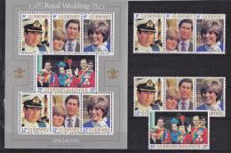 Guernsey - 1981 - Marriage Charles & Diana / Series + Bloc - MNH (9464) - Guernesey