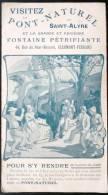 DEPLIANT PUBLICITAIRE : VISITEZ SAINT-ALYRE FONTAINRE PETRIFIANTE PRES DE CLERMONT-FERRAND 63 AUVERGNE - Publicités