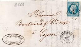 FRANCE ALSACE LETTRE DE RIBEAUVILLE 1858 - Alsazia-Lorena