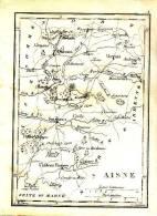 1833 - Gravure Sur Cuivre - Carte Du Département De L´Aisne - FRANCO DE PORT - Stampe & Incisioni