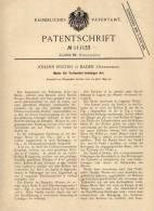 Original Patentschrift - J. Reichel In Baden , Österreich , 1899 , Motor Für Jegliche Treibmittel !!! - Maschinen