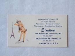 Carte De Visite. Cinébel. Avenue De Tervuren. Chaussée De Louvain. Bruxelles. Illustré Photographe. Tour Eiffel. - Cartes De Visite
