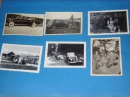 6 Photos Originales Anciennes Vieilles Voitures A Identifier - Automobiles