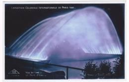 (RECTO / VERSO) EXPOSITION COLONIALE INTERNATIONALE DE PARIS 1931 - VUE DU LAC - UN PONT D' EAU - AL75 - Exhibitions