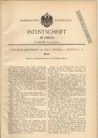 Original Patentschrift - P. Herold In Oelsnitz I.V., 1899 , Bieruhr , Uhr , Bier , Kneipe , Schänke !!! - Schmuck & Uhren