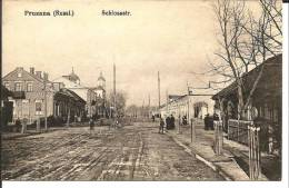 RL083 / Pruzana, Schlossstrasse 1914 Auf Feldpostkarte Nach Breslau - Russland