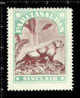 Old Original U.S. United States Poster Stamp(cinderella,reklamemarke)Prehistoric Animals Dinosaur Reptile Pareiasaurus - Stamps