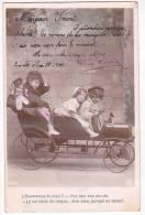 CHILDREN PLAYING A CAR RACE  REAL PHOTO CA1900 ORIGINAL POSTCARD Cpa AK (W3_0185) - Children