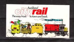 "Autoadesivo  "" Cityrail  -  Aukland "".  Treno. Train - Ferrovie"