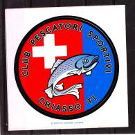 """Autoadesivo  """" Pescatori  Sportivi  Chiasso """" - Fishing"""