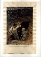 -UNE RESURRECTION EST PRESQUE AUSSI EFFRAYANTE QU´UNE MORT . GRAVURE SUR BOIS DU XIXeS. . - Religion & Esotericism