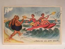 CPA Illustrateur  Humour Plage - Faites-moi Une Petite Place !!!... - Illustrateurs & Photographes