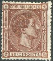 Ed 167(*) AIfonso XII 1875 40 Céntimos Castaño En Nuevo, Catálogo 152 Eur - Nuevos