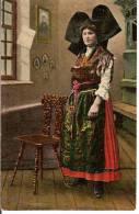 CPA - ALSACIENNE - Costume - Folklore - - Costumes