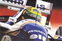 Ayrton Senna  -  Williams-Renault  - Artwork By Clovis -  Art Card - Motorsport