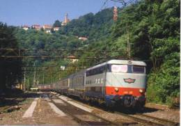 FS 9 Treno Ferrovie Italiane E 444.033 Mignarego Genova Railroad Train Italian Railways Treni Locomotiva - Treni
