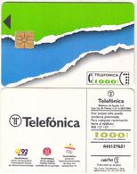 SPAIN - Telefonica Telecard 1000 Ptas, 06/92, Used - Spain