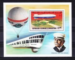 MAURITANIA   1976 , Zeppelin , Y&T  BF # 15 Cv  7,25  E, ** M N H , V V F - Mauritania (1960-...)
