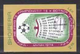 Albania Mi Bl 49 Sport Soccer Championship   Block 1974 FU - World Cup