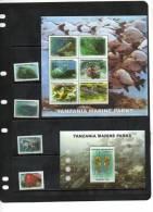 TANZANIA,2011, MARINE LIFE,TURTLES, FISH, SEAHORSES,SHARK,EEL, ETC,4v+  SHEETLET+ 2 S/SHEETS,MNH. - Maritiem Leven