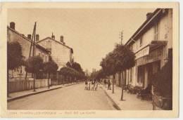 THAON LES VOSGES : RUE DE LA GARE - HOTEL ET CAFE DE L'EST- 1946, 47 - 2 SCANS - - Thaon Les Vosges
