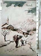 BUON NATALE ILLUSTRATA Tipo S BONELLI Non Firmata  VB1954 DW3966 - Natale