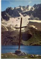 Queyras--CEILLAC---Le Lac Ste Anne Et La Croix Des Missions,cpm N°716  éd Erté - Autres Communes