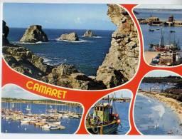 CAMARET--1991--Vues Diverses (tas De Pois,port,pontons,port De Plaisance,plage ) ,cpm éd Jack - Camaret-sur-Mer