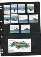 UAE, 2011, MARINELIFE, BU TINAH ISLAND,TURTLE, FISH, CRABS, DOLPHIN, MANATEE,10v+S/SHEET,MNH - Maritiem Leven