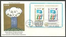 United Nations New York  26.06.1976 FDC Naciones Unidas UN 30th Anniversary Jahrestag - Lettres & Documents
