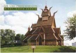 Minot ND North Dakota, Gol Stave Chruch Museuem, Architecture, On C1990s/2000s Vintage Postcard - Minot