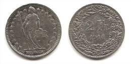 Lot Pièce 2 Francs Suisse Argent 1914 - Suiza