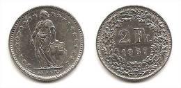 Lot Pièce 2 Francs Suisse Argent 1967 - Suiza