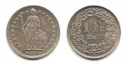 Lot Pièce 1 Franc Suisse Argent 1943 - Svizzera