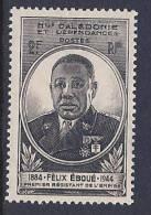 New Caledonia, Scott # 274 Mint Hinged Eboue, 1945 - Unclassified