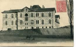 CPA 42 LE CHAMBON L HOPITAL 1906 Plan Rare - Le Chambon Feugerolles