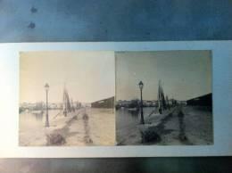 85 - SABLES-D´OLONNE - Photo Stéréo Sur Carton - Le Port - Photos Stéréoscopiques