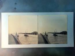 85 - SABLES-D´OLONNE - Photo Stéréo Sur Carton - Pêche à La Ligne - Photos Stéréoscopiques