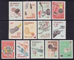 Nicaragua #C523-35, F-VF MNH ** Tokyo Olympics ( Golf, Table Tennis, Basketball, Etc.) - Sommer 1964: Tokio