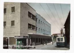 CHIETI - Grande Albergo Abruzzo, Animata, Tram - Cartolina FG BR V 1954 ? - Chieti