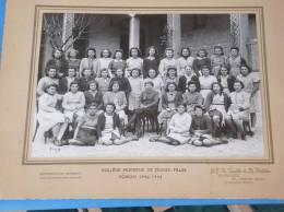 Photo Originale College Moderne De Jeunes Filles VOIRON 1942 1943 Isere - Voiron