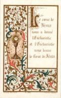Image Pieuse - L'Eucharistie - Le Coeur De Jésus  - Souvenir De 1ère Communion 1898 - Jaus_V1 - Images Religieuses