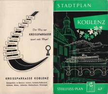 Stollfuss Plan N° 47 KOBLENZ Mit Niederlahnstein & Oberlanhstein - 7. Auflage  Wilhelm Stollfuss Verlag Bonn - Roadmaps