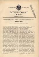 Original Patentschrift - Geheimschrift - Apparat Für Chiffrierte Depeschen , 1899 , G. Valvasori In Padua , Enigma !!! - Equipment