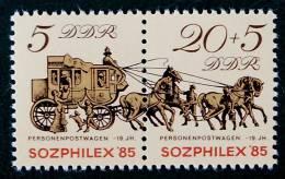 """""""SOZPHILEX 85"""" - NEUFS ** - YT 2590A - MI 2965/66 - [6] Democratic Republic"""
