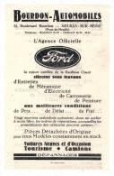 PUBLICITÉ ,  BOURDON Automobiles , Automobile Ford - Advertising