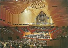 SYDNEY OPERA HOUSE NEW SOUTH WALES ( ORGUES ) THE MAGNIFICENT CONCERT HALL, WITH A CAPACITY AUDIENCE OF 2,700 ENJOYING.. - Sydney