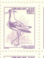 TERUTERO TERO PAJARO OISEAUX AVE 1976 DIBUJANTE MEDINA URUGUAY MNH - Oiseaux