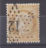 Lot N°18291  Variété/n°59, Oblit étoile Chiffrée 12  De PARIS (Bt Beaumarchais), Fond Ligné Horizontalement, C De 25C - 1871-1875 Cérès