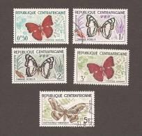 Central African Republic Scott #4-8 Butterflies CTO - Lots & Kiloware (max. 999 Stück)